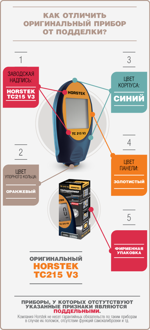 подделки Horstek TC 215 V3